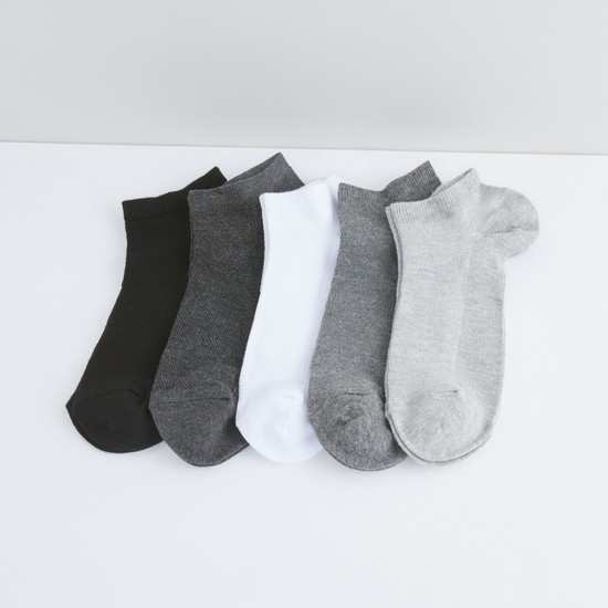 Set of 5 - Plain Ankle Length Socks