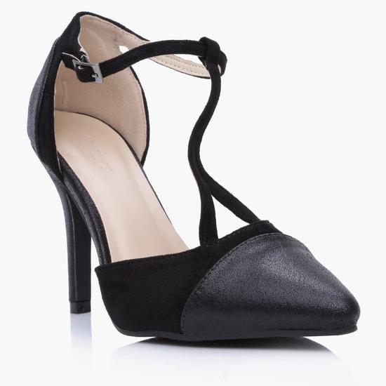 High Heel Stilettos with Buckle Closure