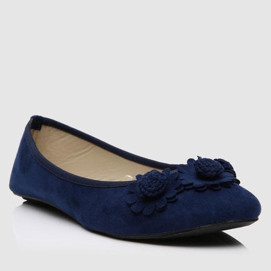Floral Applique Ballerina Shoes