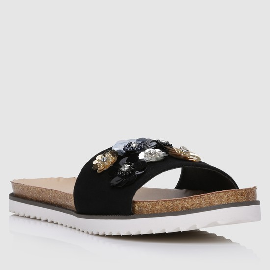 Embellished Flat Slippers