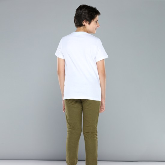 T-Shirt with Round Neck and Short Sleeves
