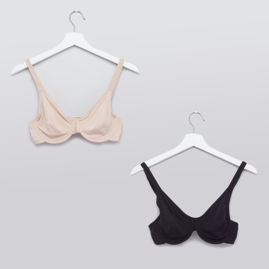 Bra with Adjustable Straps - Set of 2