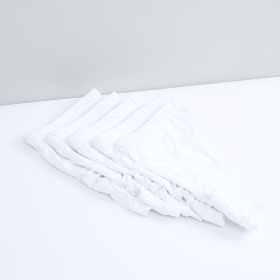 Elasticised Waistband Briefs - Set of 5
