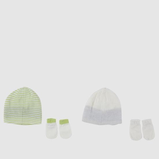 طقم قبعة وقفازات من قطعتين