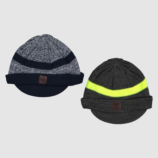 قبعة صغيرة مخطّطة - طقم من قطعتين