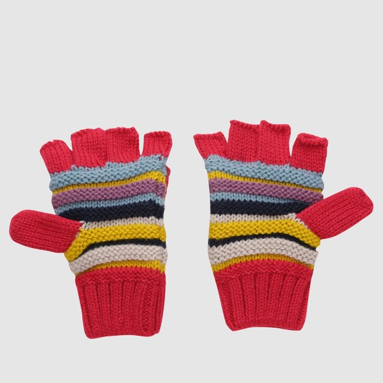 Woven Gloves with Appliques