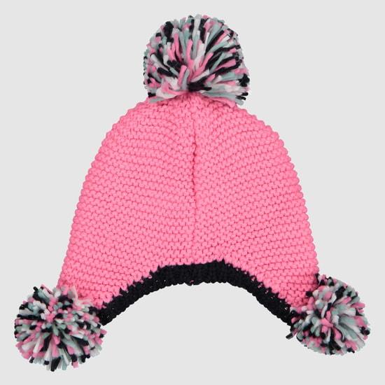 قبعة صغيرة مطرّزة مع كرة بوم بوم