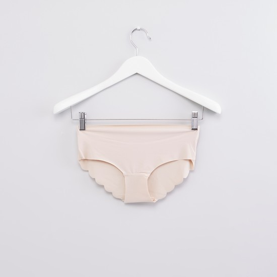 Hipster Briefs with Scalloped Hem - Set of 2