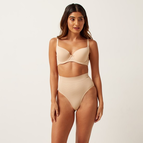Textured Shaping Briefs with Elasticised Waistband