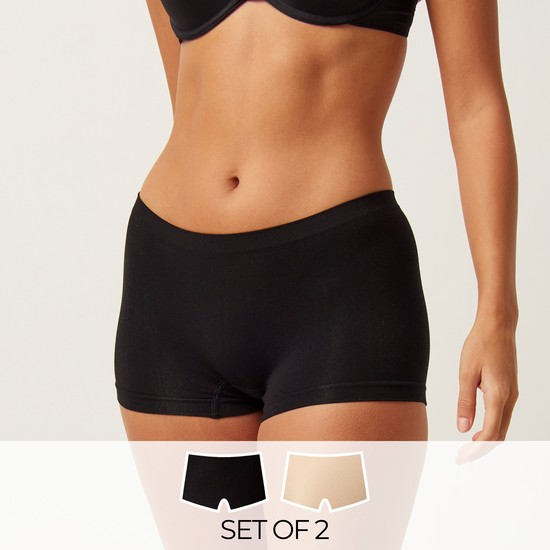 Set of 2 - Seamless Shaping Briefs with Elasticised Waistband