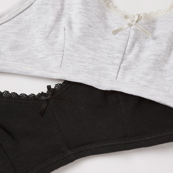 Set of 2 - Lace Detail Bra