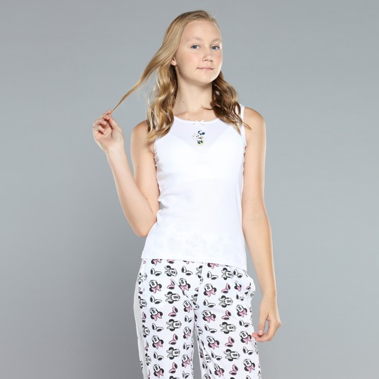 Minnie Mouse Printed Sleeveless Vest - Set of 2