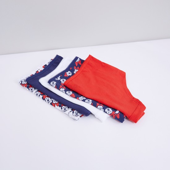 Minnie Mouse Printed Briefs with Elasticised Waistband - Set of 5