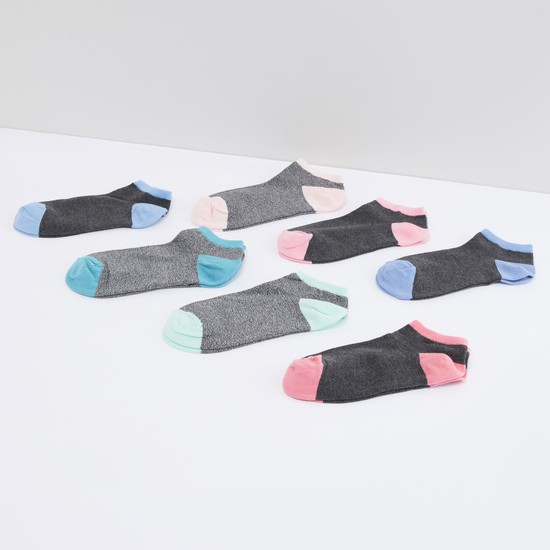 Textured Ankle Length Socks - Set of 7