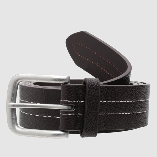 Textured Belt with Stitch Detailing