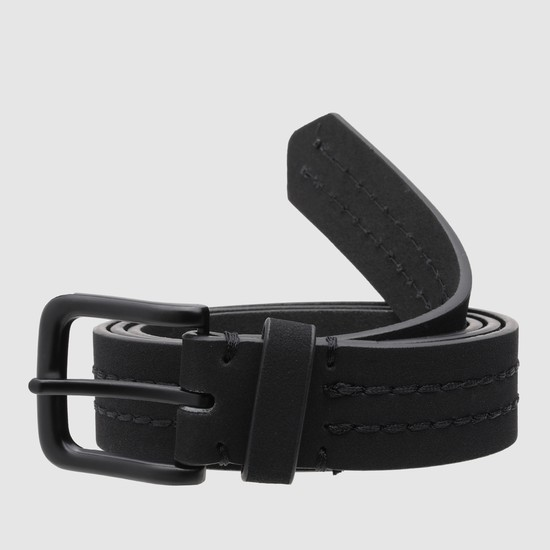 Stitch Detail Belt with Pin Buckle Closure
