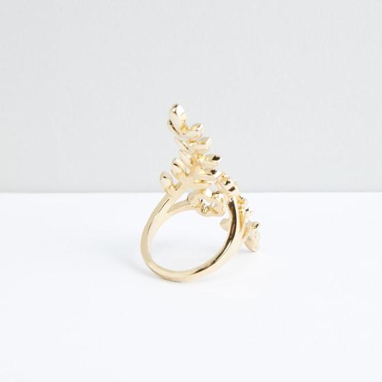 Metallic Ring with Stud Detail