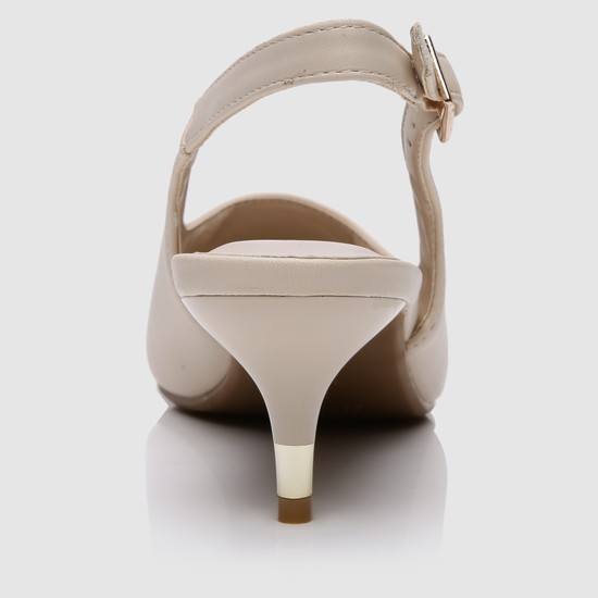 Mid Heel Shoes with Buckle Closure