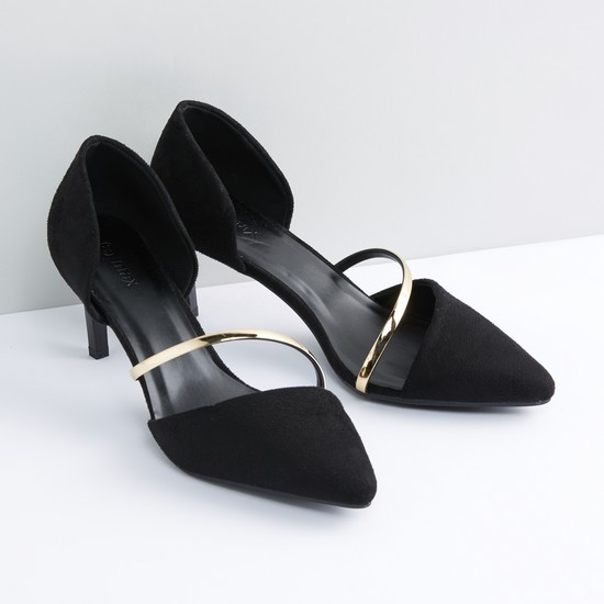 Stiletto Heel Pumps with Strap Detail