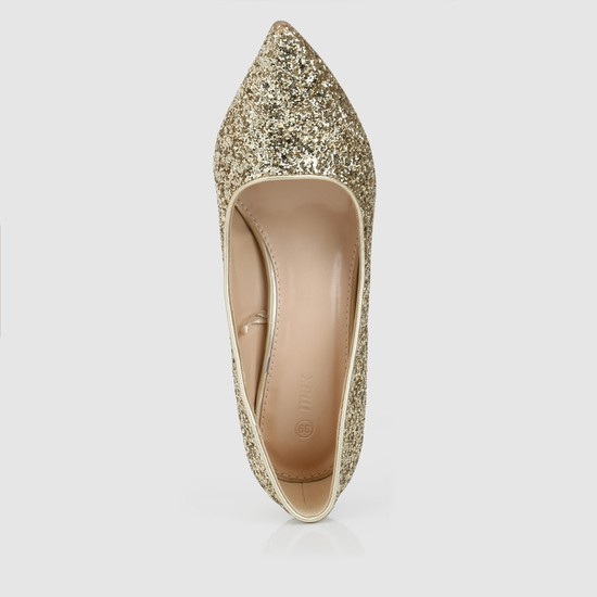 Embellished Slip-On Stilettos
