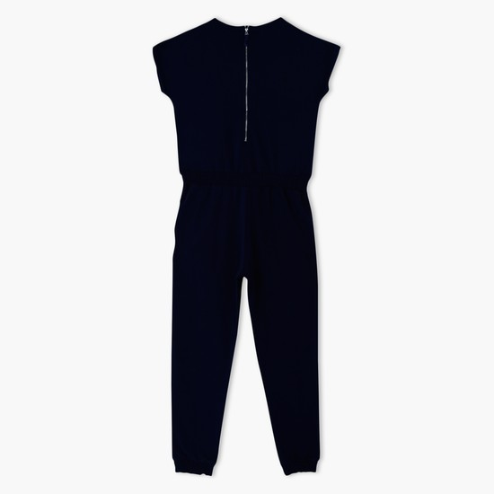 Printed Jumpsuit with Zippered Back