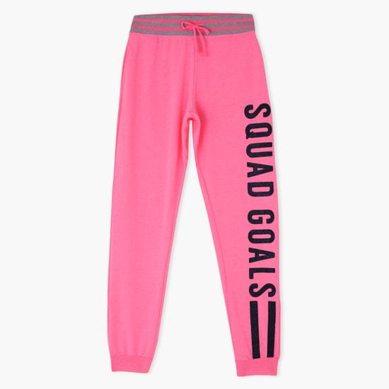 Printed Squad Goals Jog Pants