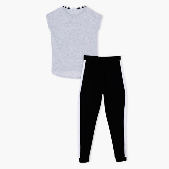 Printed T-Shirt and Pants Set