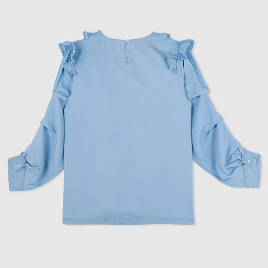 Long Sleeves Top with Frills