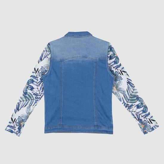 Printed Long Sleeves Denim Jacket