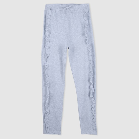 Full Length Ruffle Detail Pants with Elasticised Waistband