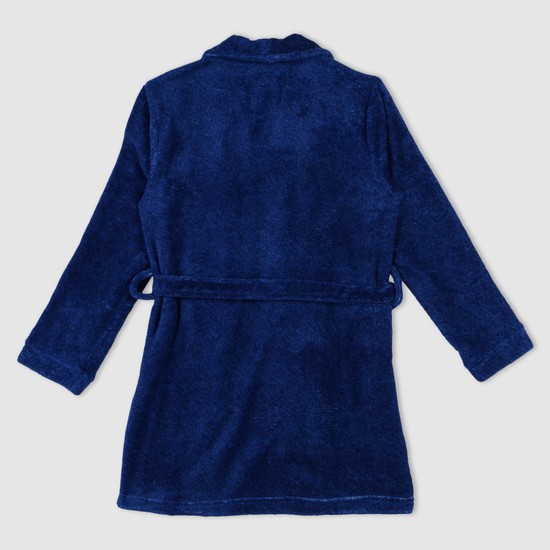 Applique Long Sleeves Robe