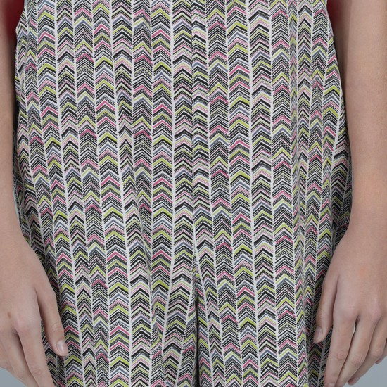 Printed 3/4 Length Dungarees with Button Closure