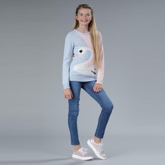 Embellished Round Neck Sweater