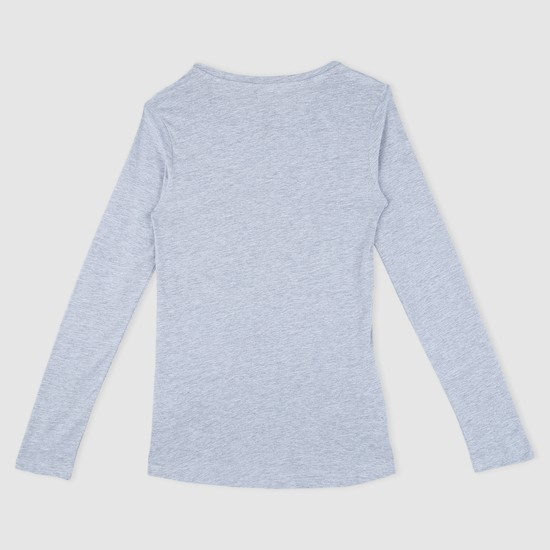 Printed T-Shirt with Long Sleeves