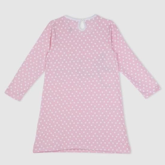 Printed Long Sleeves Sleepshirt