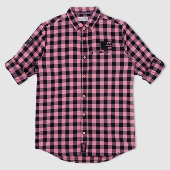 Chequered Shirt with Welt Pocket