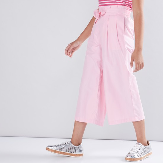 Pocket Detail Culottes with Paper Bag Waist