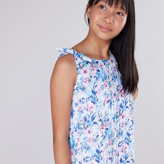 Floral Printed Knot Detail Dress