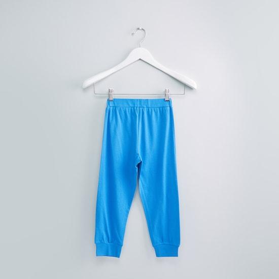Printed Raglan Sleeves Sweatshirt with Jog Pants