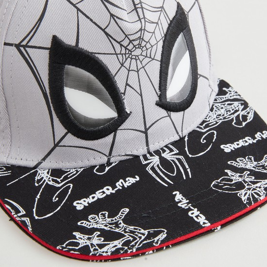 Spider-Man Printed Cap with Snap Closure