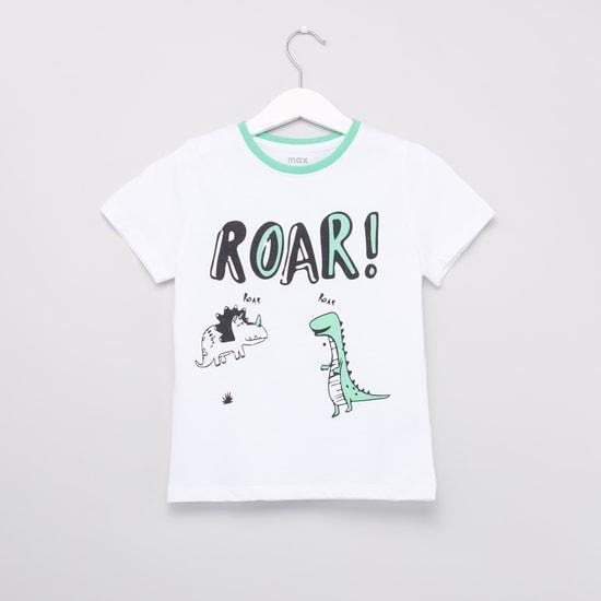 Set of 2 - Printed T-shirts with Full Length Jog Pants