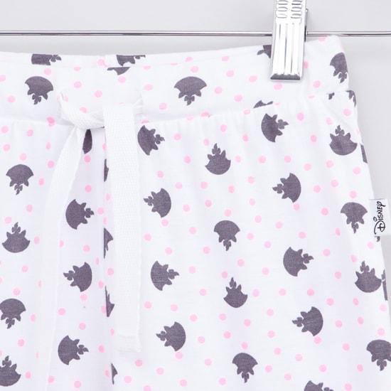 Marie The Cat Printed Long Sleeves T-shirt and Pyjama Set