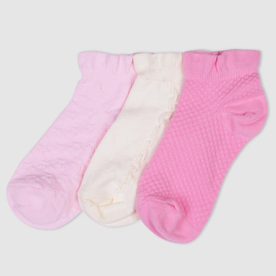 Textured Ankle Length Socks - Set of 3