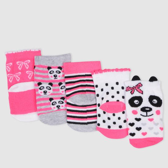 Woven Ankle Length Socks - Set of 5