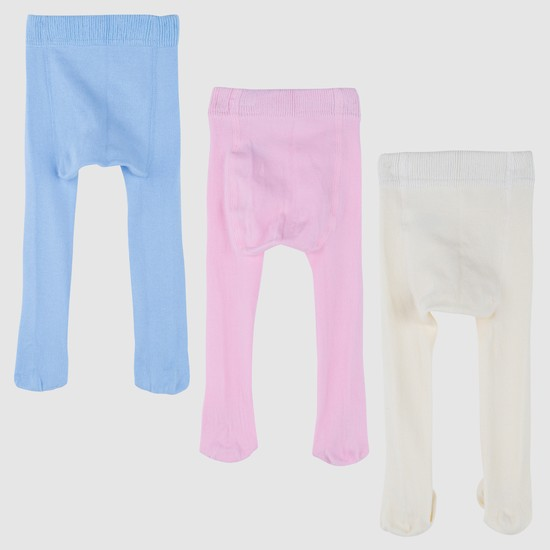 Tights with Elasticised Waistband - Set of 3