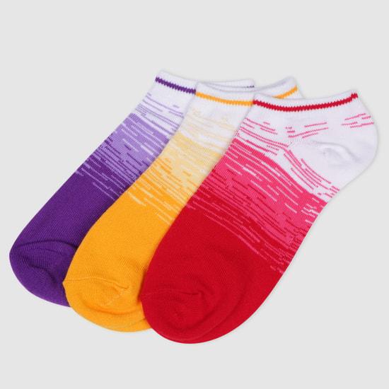 Printed Ankle Socks - Set of 3