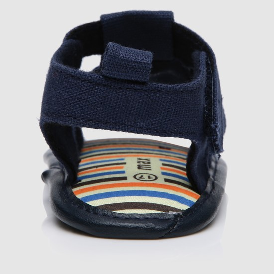 Multi Strap Sandals with Hook and Loop Closure