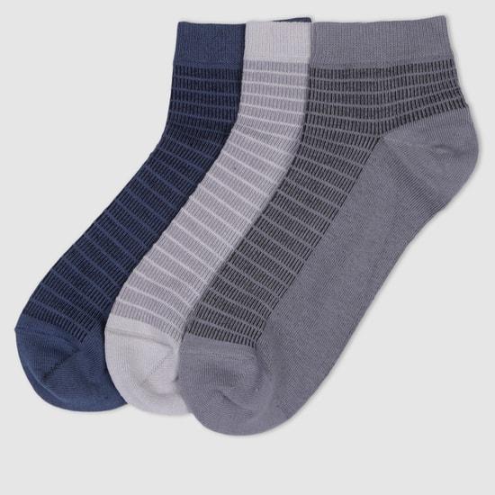 Striped Ankle Socks - Set of 3