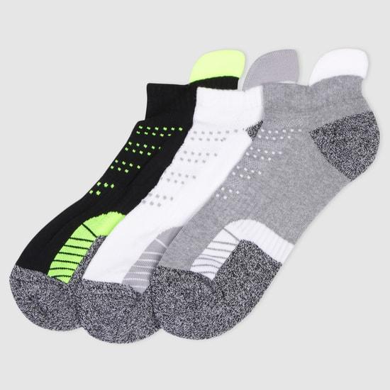 Woven Ankle Socks - Set of 3