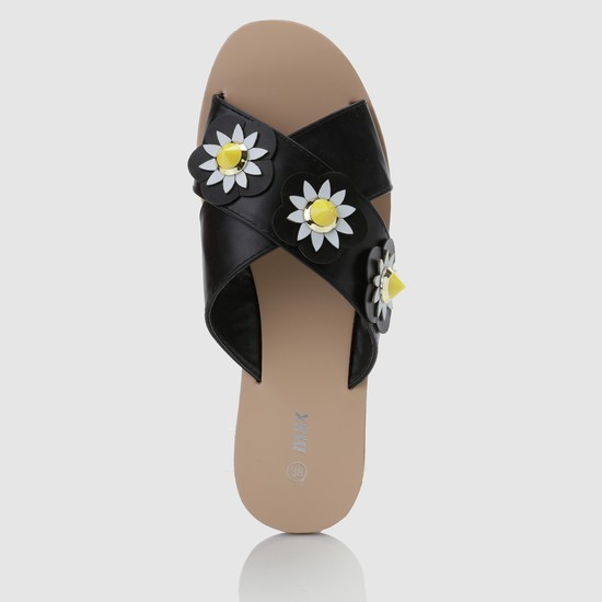Embellished Cross Strap Sandals
